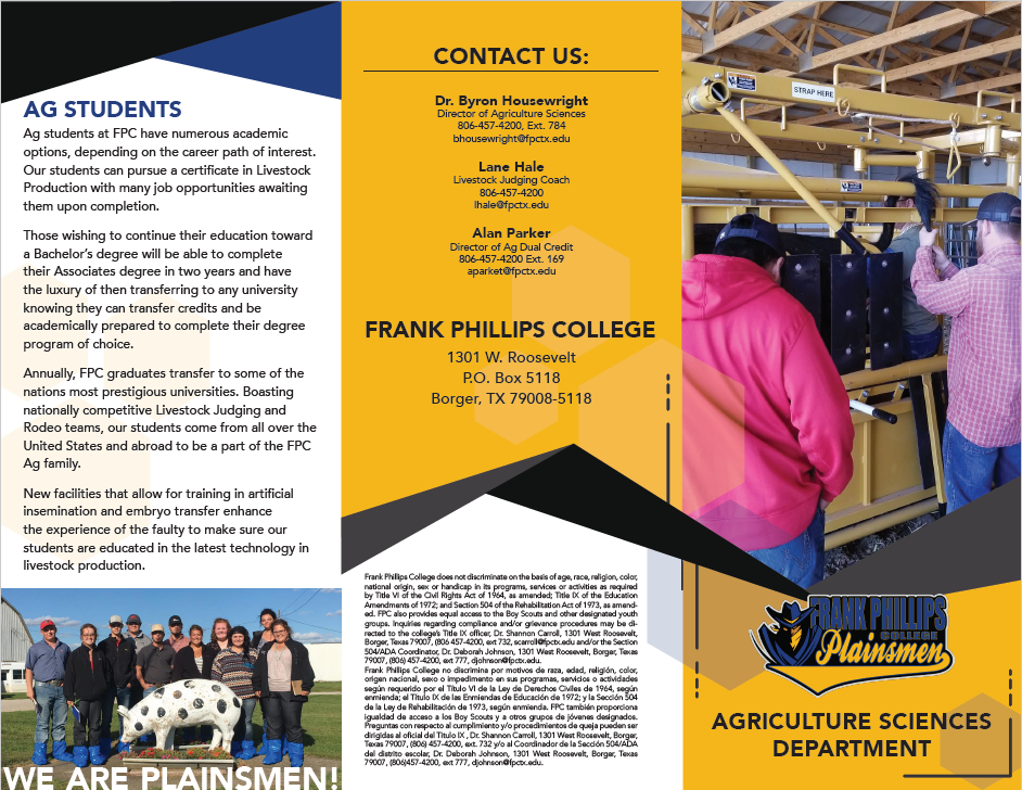 Agriculture Studies Brochure